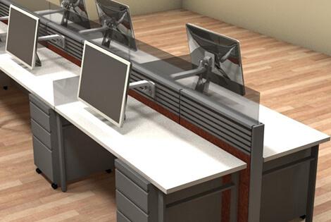 Remanufactured office desks