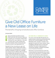 The Benefits of Buying Remanufactured Office Furniture