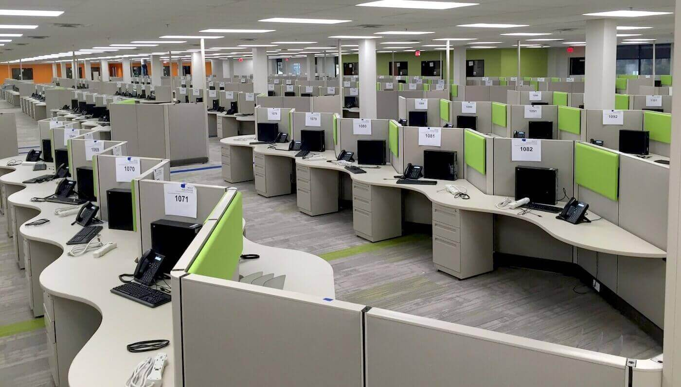 remanufactured call center cubicles
