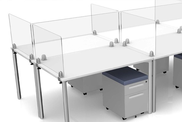 clamp mount dividers for office spaces