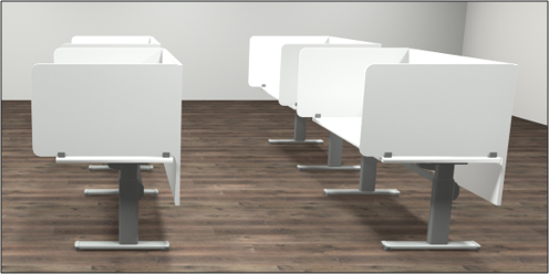 workstation benches for COVID-19 office