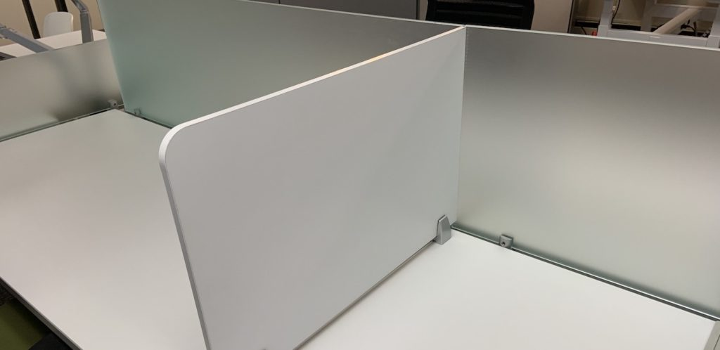 work bench divider for COVID-19